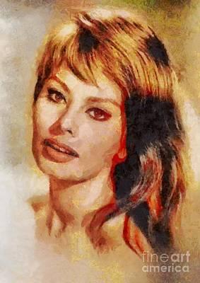 Sophia Loren, Vintage Hollywood Actress Art Print by Mary Bassett