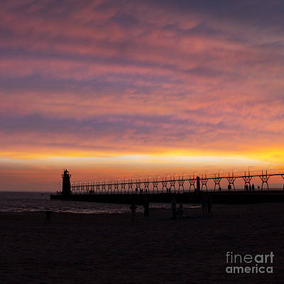 South Haven Sunset Art Print