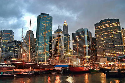 South Street Seaport Photograph - South Street Seaport by June Marie Sobrito