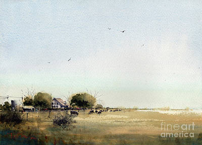 Painting - Spade Ranch South Camp by Tim Oliver