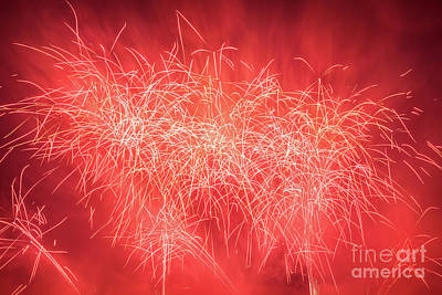 Eve Photograph - Spectacular Fireworks Show Light Up The Sky. New Year Celebration. by Michal Bednarek