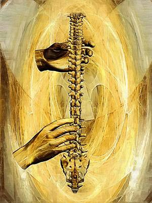 Chiropractor Digital Art - Spine - Instrument Of Life by Joseph Ventura