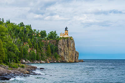 Cliffs Photograph - Split Rock Lighthouse  by AMB Fine Art Photography