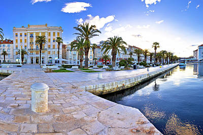 Photograph - Split Waterfront Panoramic View From Pier by Brch Photography