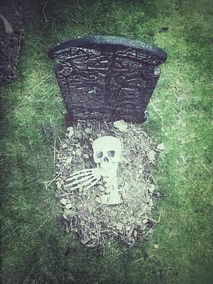 Spooky Grave Stones Art Print by Tom Gowanlock