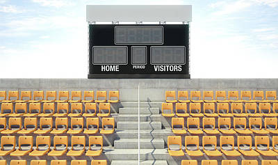 Sports Stadium Scoreboard Art Print