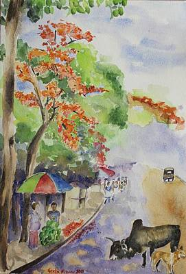 Painting - Spring In India by Geeta Biswas