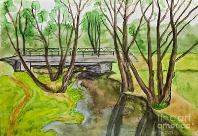 Painting - Spring Landscape, Painting by Irina Afonskaya