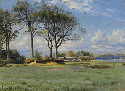 Painting - Spring Landscape by Peder Monsted