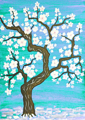 Painting - Spring Tree In Blossom, Painting by Irina Afonskaya