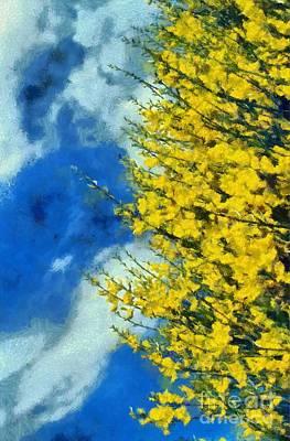Painting - Spring Wild Flowers by George Atsametakis