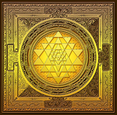 Mixed Media - Sri Yantra by Lila Shravani
