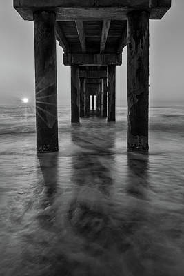 Photograph - St Augustine Beach Pier Sunrise by Stefan Mazzola