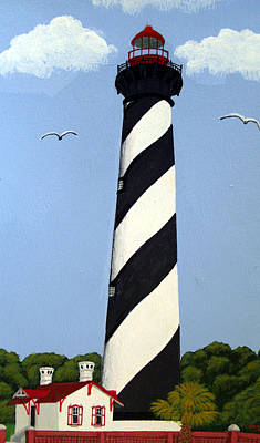 Painting - St Augustine Lighthouse by Frederic Kohli