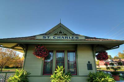 Photograph - St. Charles Depot by Steve Stuller