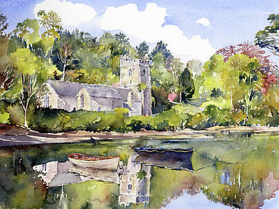 Painting - St Just In Roseland Church by Margaret Merry