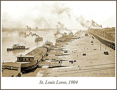 Photograph - St. Louis Levee, 1904 by A Gurmankin
