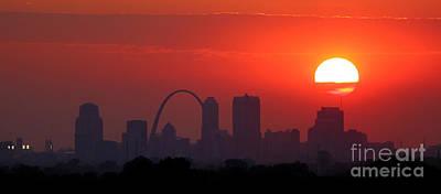 Photograph - St Louis Sunset by Garry McMichael