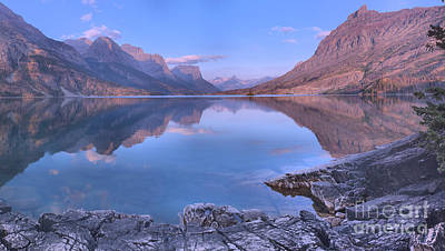 Photograph - Glacier St Mary Sunrise Panorama by Adam Jewell