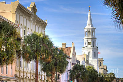 St Michaels Church Charleston Sc Print by Dustin K Ryan