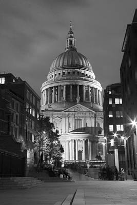 Sunset At The Bridge Photograph - St Pauls Cathedral At London Attractions  by David French