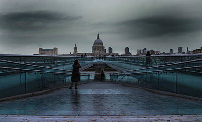 Abstract Skyline Rights Managed Images - St Pauls Cathedral Royalty-Free Image by Martin Newman