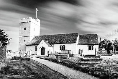 Photograph - St Sannans Church Bedwellty Mono by Steve Purnell