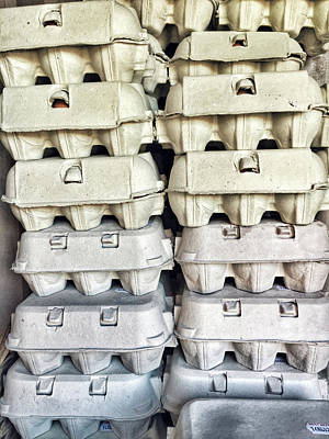Stacked Egg Boxes Art Print by Tom Gowanlock