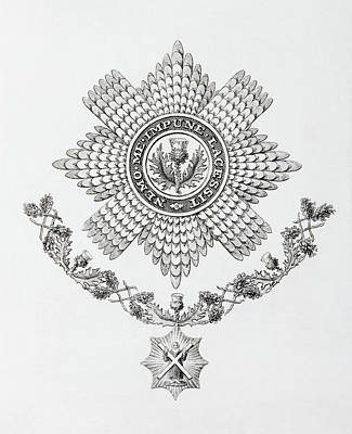 Star, Collar And Badge Of The Order Of Art Print by Vintage Design Pics