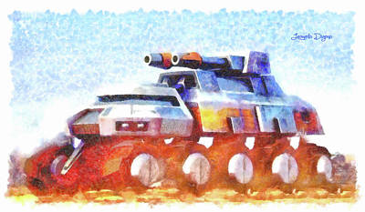 Army Painting - Star Wars Rebel Army Armor Vehicle by Leonardo Digenio