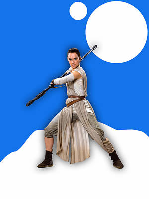 star Wars Rey Collection Art Print