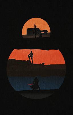 A New Hope Digital Art - Star Wars - The Force Awakens by Farhad Tamim