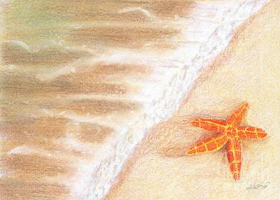 Mixed Media - Starfish Vacation by Kristen Fox