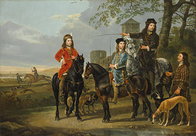 Amusement Ride Painting - Starting For The Hunt by Aelbert Cuyp