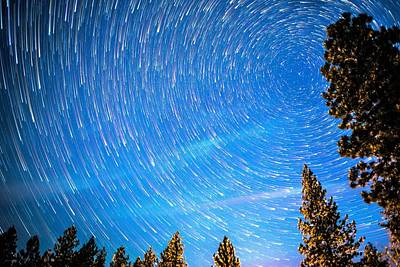 Photograph - Startrails Of North Pole Polaris And Small Dipper by Alex Grichenko