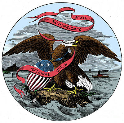 Drawing - State Seal, Illinois.  - To License For Professional Use Visit Granger.com by Granger