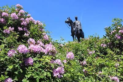 Photograph - Statue Of 1st Duke Of Wellington At Round Hill Aldershot by Paul Felix