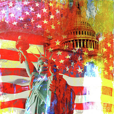 Liberty Painting - Statue Of Liberty by Gull G