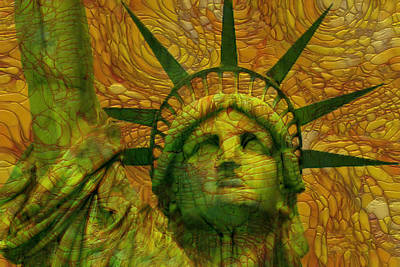 Painting - Statue Of Liberty by Jack Zulli