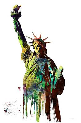 Liberty Island Digital Art - Statue Of Liberty by Marlene Watson