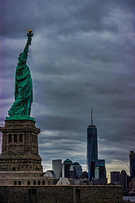 Highrise Building Photograph - Statue Of Liberty by Martin Newman