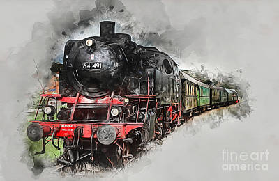 Mixed Media - Steam Train by Ian Mitchell