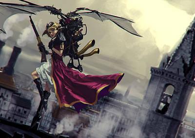 Steampunk Digital Art - Steampunk by Maye Loeser