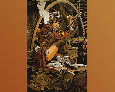 Steampunk Digital Art - Steampunk by Super Lovely