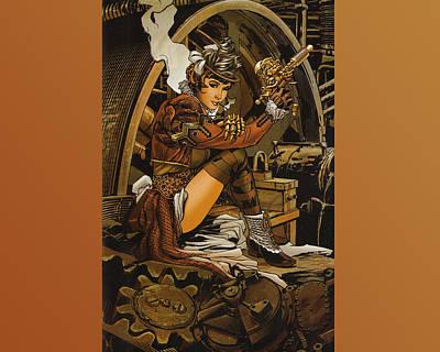 Steampunk Digital Art - Steampunk by Super Lovely