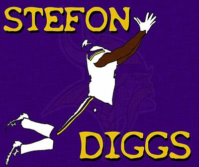Digital Art - Stefon Diggs by Kyle West