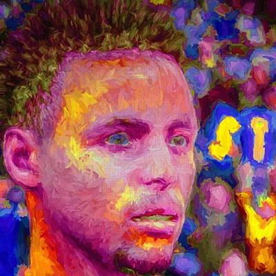 Fineartamerica Wall Art - Photograph - #stephcurry #curry #goldenstatewarriors by David Haskett II
