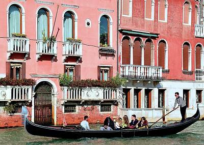 Gondola Ride Photograph - Stereotypical Venice Photo by Frozen in Time Fine Art Photography