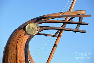 Marine Photograph - Stern Of A Full Scale Copy Of An Ancient Trireme by George Atsametakis