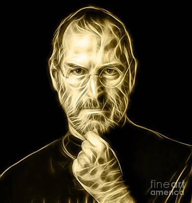 Apple Mixed Media - Steve Jobs Collection by Marvin Blaine